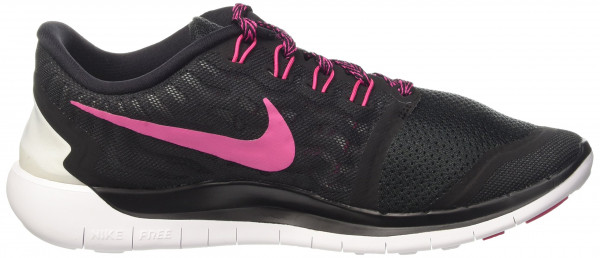 Nike Free 5.0 woman multicolore (black/vivid pink-white)