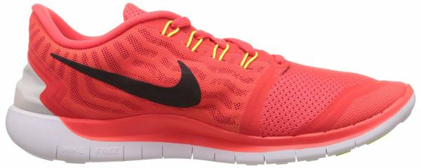 Nike Free 5.0 men brght crmsn/blk/ttl orng/brght