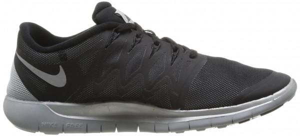 Nike Free 5.0 men black/reflect silver/wolf grey