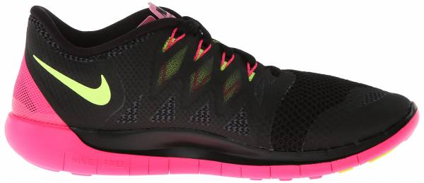 Nike Free 5.0 woman black/volt/hyper pink/anthracite