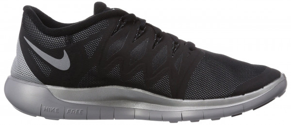 Nike Free 5.0 woman noir (black/reflect silver-wolf grey 001)