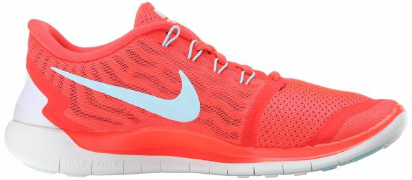 Nike Free 5.0 woman bright crimson/black/hyper orange