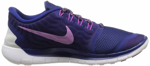 Nike Free 5.0 woman deep royal blue/fuchsia flash/pink/fuchsia