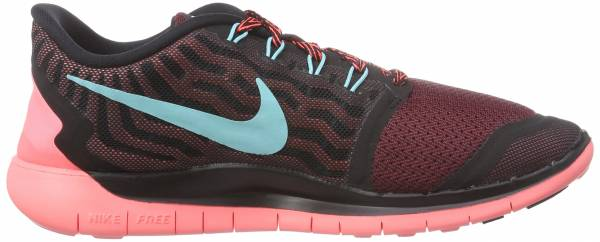 Nike Free 5.0 woman black/light aqua/rio hot lava