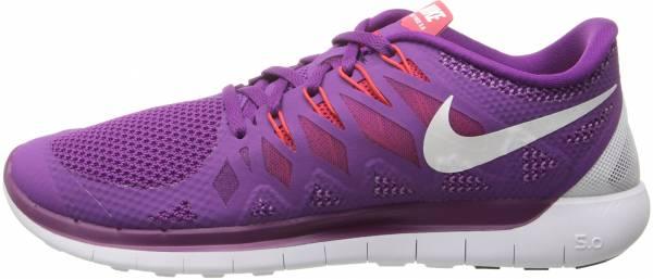 Nike Free 5.0 woman brght grp/white/vlt shd/lgn rd