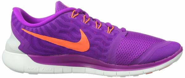 Nike Free 5.0 woman vivid purple/black/fuchsia glow/hyper orange