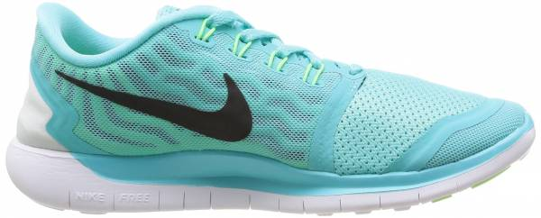 Nike Free 5.0 woman light aqua/black/light rtero/green glow