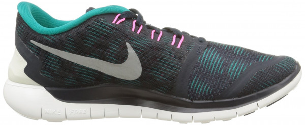 Nike Free 5.0 woman blue (dark obsidian/summit white/radiant emerald)