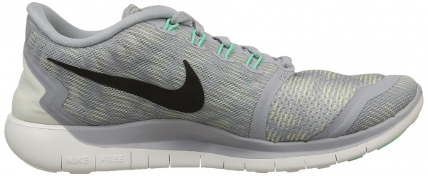 Nike Free 5.0 woman wolf grey/blk/smmt wht/grn glw