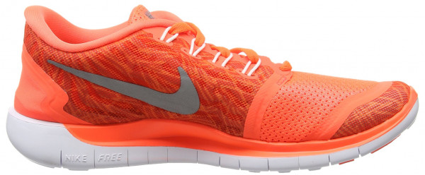 Nike Free 5.0 woman multicolore (hyper orange/black-sail-white)