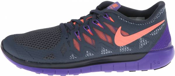 Nike Free 5.0 woman dk mgnt gry/brght mng/hypr grp