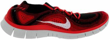 Nike Free Flyknit 5.0 - Black White Gym Red University Rd (615805016)