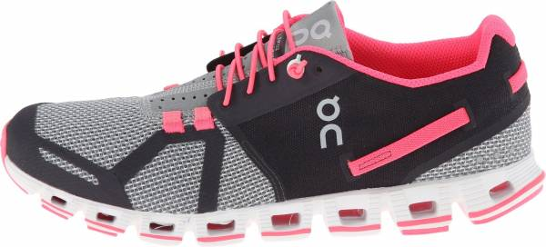 On Cloud woman grey/neon pink