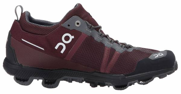 On Cloudventure Midtop woman mulberry/grey