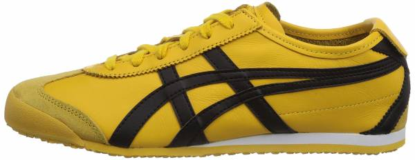 onitsuka tiger mexico 66 black and pink yellow zip toe