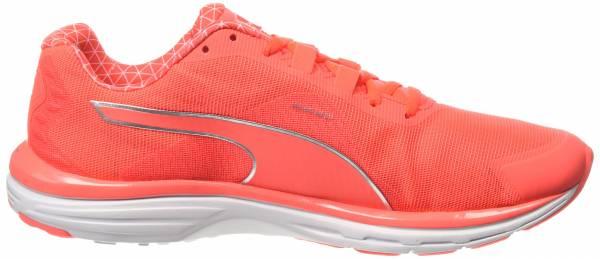 Puma FAAS 500v4 PWRWARM Womens Orange Cushioned Running Sports Shoes Trainers