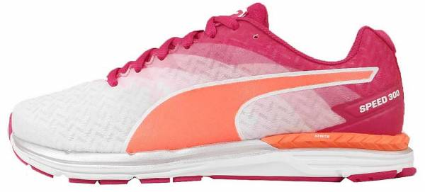 Puma Speed 300 Ignite woman white - weiu00df (white-rose red-fluo peach 01)