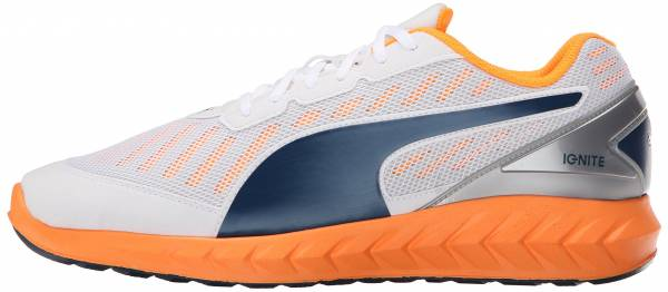 Puma Ignite Ultimate men weiu00df (white-orange pop-blue wing teal 04)