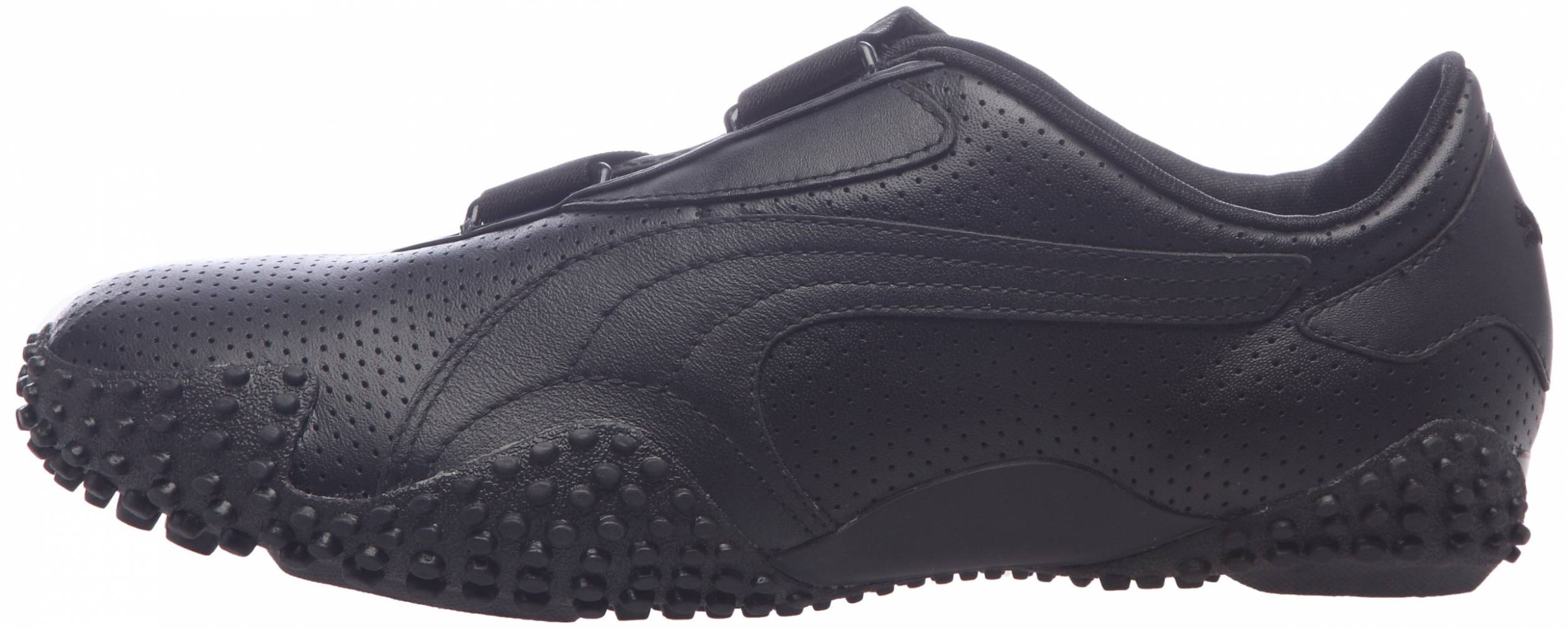 Puma Mostro Perf Leather sneakers in black white (only $63 ...