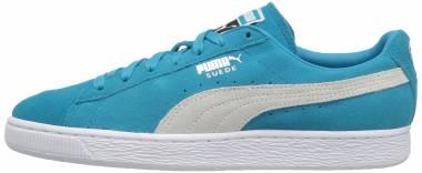 Puma Suede Classic + Blue Danube Puma White Mens Lace Up Sneakers