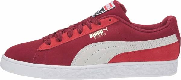 puma suede red and white