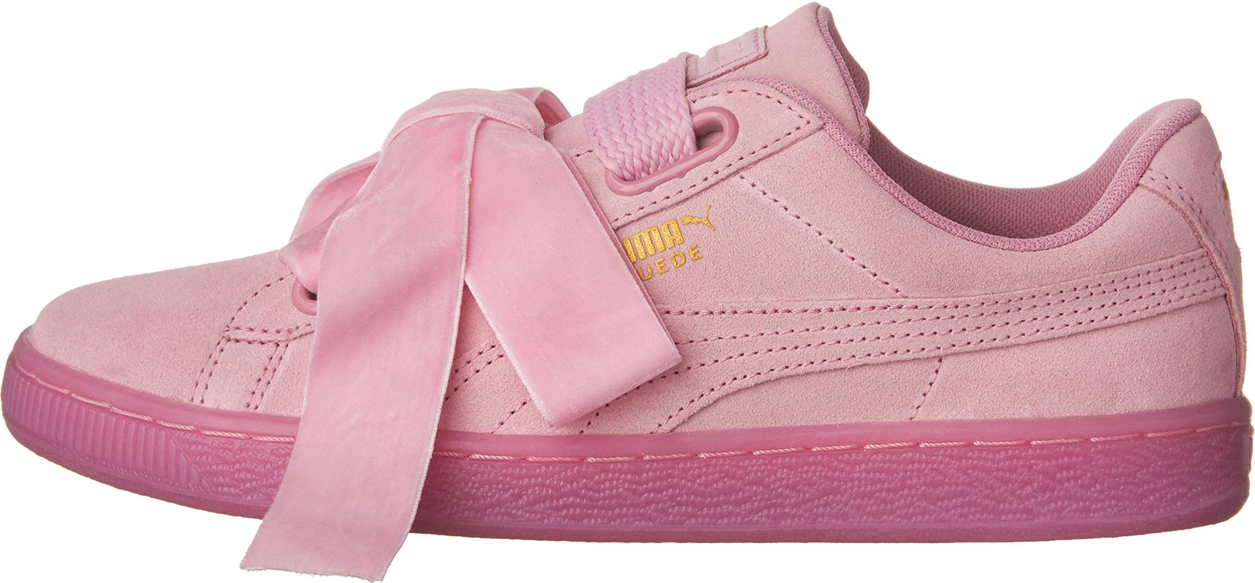 Puma Suede Heart Reset sneakers in blue pink (only $42) | RunRepeat