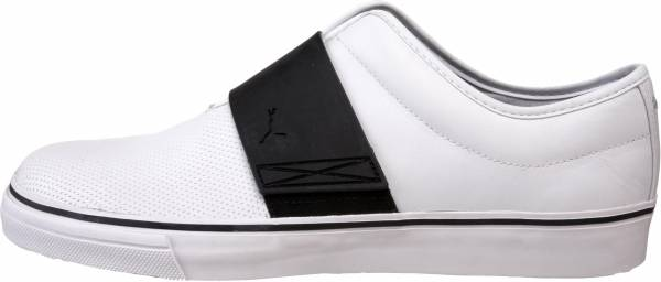 Puma El Rey Cross Perf Leather Slip-On White/Black/Silver Metallic
