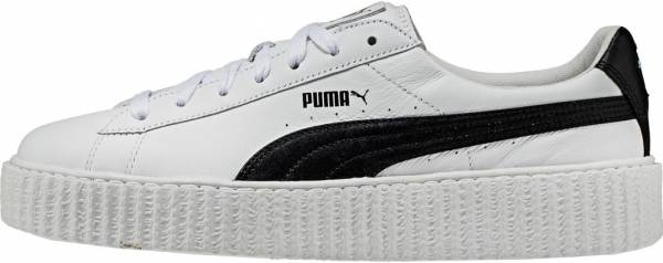 Shop Fenty Puma by Rihanna Women's White Leather Creeper
