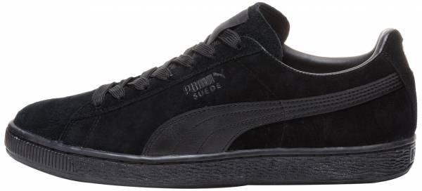 puma suede shoes black and white