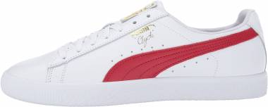 Puma Clyde Core Foil - White/Cherry/Gold (36466903)