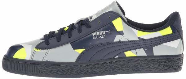 Puma Basket Classic Graphic Peacoat-safety Yellow-quarry