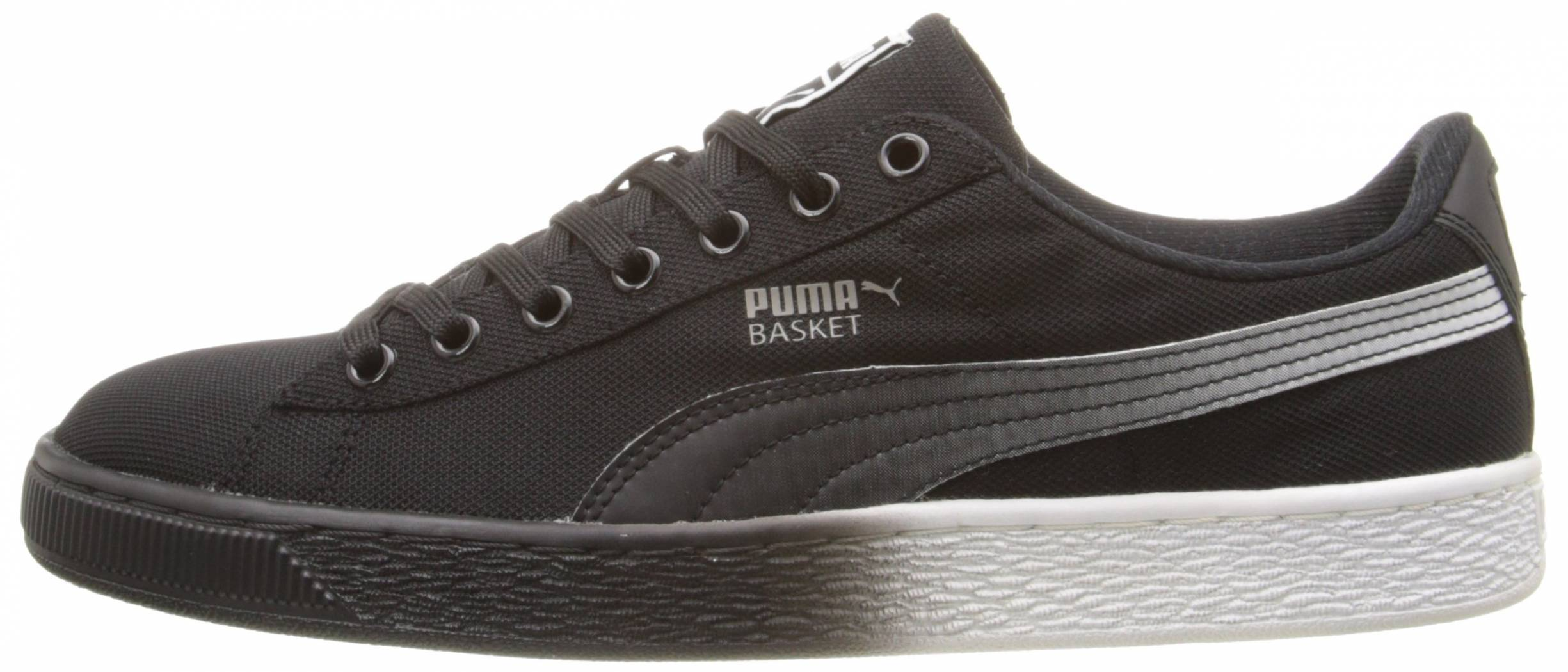 mens shoes puma basket classic black black