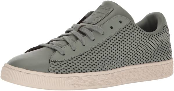 Mens Puma Basket Classic Summer Shade Sneakers White