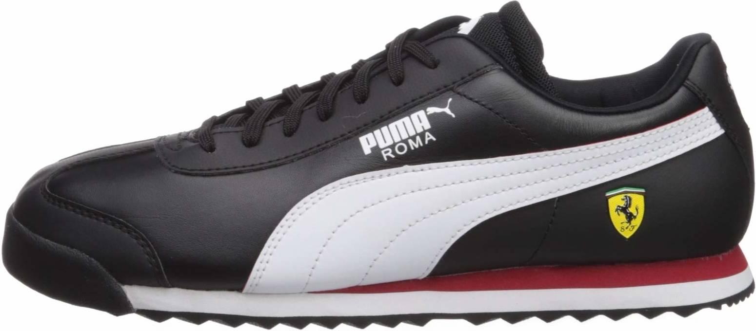 puma all black sneakers