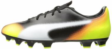 Puma EvoSpeed 4.5 Graphic Firm Ground - Black-white-safety Yellow-shocking Orange