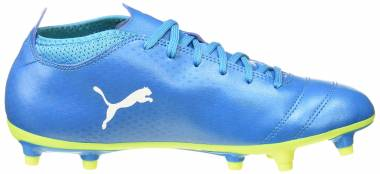 Puma One 17.4 Firm Ground - Blau Atomic Blue White Safety Yellow (10407503)