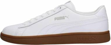 Puma Smash v2 Leather - White Puma White Gray Violet Gum (36521513)