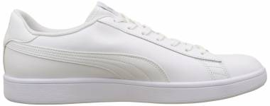 Puma Smash v2 Leather - Puma White / Puma White