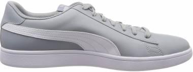 Puma Smash v2 Leather Quarry / Puma White Men