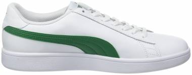 Puma Smash v2 Leather - Puma White / Amazon Green (36521503)