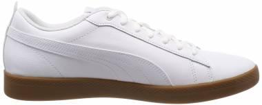 Puma Smash v2 Leather - Puma White Gray Violet Gum (36520812)