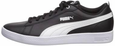 Puma Smash v2 Leather - Black Puma Black Puma White 02 (36520802)