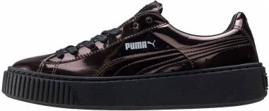 Here's a Great Deal on PUMA Women's Basket Platform Metallic