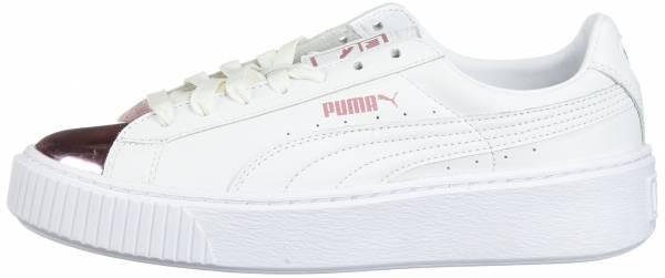 Puma Basket Platform Metallic Puma White-lilac Snow