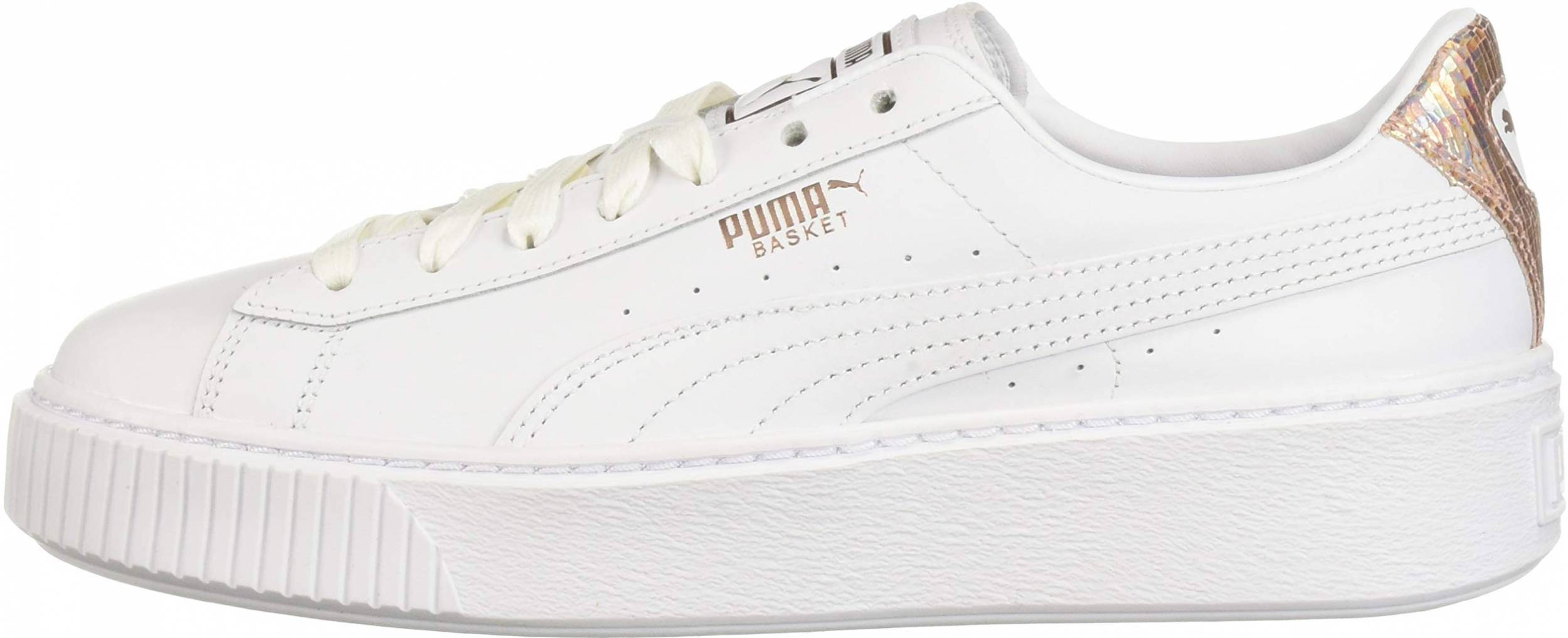 enfermo Empírico Caracterizar  Puma Basket Platform sneakers in white (only $35) | RunRepeat