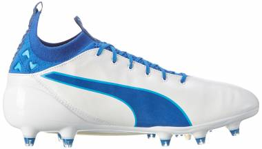 Puma evoTOUCH Pro Firm Ground Bianco (Puma White-true Blue-blue Danube 05) Men