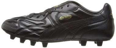 Puma King Top di Firm Ground - Black/Black/Black/Gold