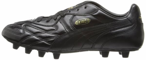 Puma King Top di Firm Ground - Black/Black/Black/Gold