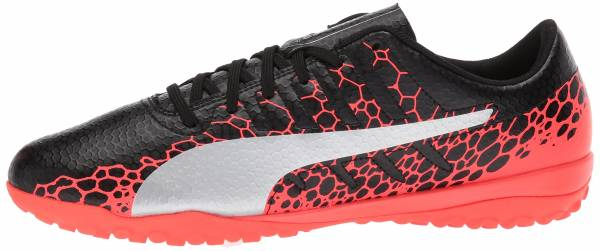 Puma EvoPower Vigor 4 Graphic Turf - Schwarz Black Silver Fiery Coral (10445801)