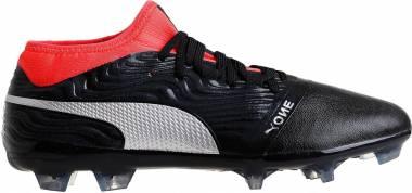 Puma One 18.2 Firm Ground Black/Silver/Red Men